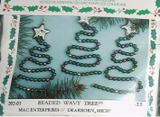 Beaded Wavy Tree Christmas Ornament Kit