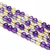 """JarTc Synthesis Faceted Purple and Yellow Crystal Round Beads Fashion Luxury Jewellery Making DIY 15"""""""