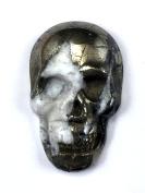 Exotic Natural Pyrite Skull 11mmx 30mmx48mm Bead LN0001 AZ0011