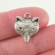 10 pc Fox charm Animal Charm 18x15mm, antique silver