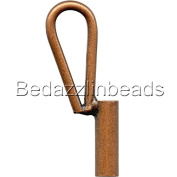 Vertical Brooch Converter for Changing Brooches and Pins to Pendants Plated Brass Metal
