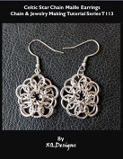 PDF Chain Maille Pattern Celtic Star Chain Maille Earrings Jewellery Tutorial T113