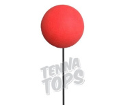 Tenna Tops - 10 pcs Plain Red Craft Foam Balls / Antenna Balls