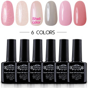 "Perfect Summer UV/LED Gel Nail Polish, ""Sweet Dream"" Colours Kit - 10ml Each, 6 Bottles"