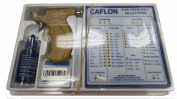 Caflon Ear Piercing Gun Kit with 4mm Gold Plated Ball Earring Studs 12 Pair