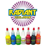 Tattoo Ink Radiant Colours 7 Colour 30ml Primary Set - MADE IN THE USA