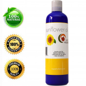 Pure Sunflower Seed Oil - Cold Pressed for Greatest Efficacy - Use on Hair, Skin & Body for Advanced Hydration - Vitamin E Rich - Great Essential Massage Oil Base - 120ml- USA Made By Maple Holistics