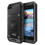 iPhone 7 Plus Case,AutumnFall IP68 H2O Submersible Aluminium Glass flim Metal Case Cover for iPhone 7 Plus 14cm