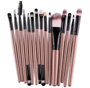 Gillberry 15 pcs/Sets Eye Shadow Foundation Eyebrow Lip Brush Makeup Brushes Tool