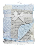"Cribmates ""Bubble Patchwork"" Plush Blanket - blue, one size"