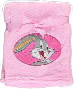 "Looney Tunes ""Character Applique"" Plush Blanket - pink, one size"