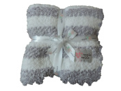 Applesauce Grey Stripe Baby Blanket