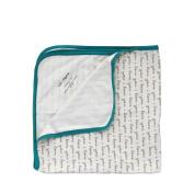 "Cat & Dogma 100% Organic Cotton ""I Love You"" Swaddling Newborn Baby Blanket"