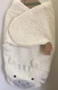 Chick Pea Zebra Sherpa Swaddle Blanket