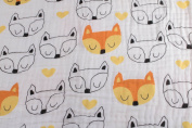 Forever Blanket - Luxurious 4-Layer Organic Cotton Muslin Infant-to-Toddler Blanket- Friendly Foxes