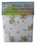 My Baby Wrinkle Free Kittens Fitted Crib Or Toddler Soft Microfiber Sheet New