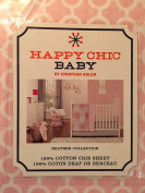 Happy Chic Baby Heather Pink & White Fited Crib Sheet By Jonathan Adler
