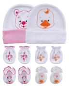 Songbai Baby Gift Set Caps Socks and Mittens For Newborn Boys Girls