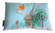 Smiley Bunny Newborn Baby Pillow Anti Flat Head to Prevent Flathead Syndrome, Bunny Rabbit Nursery Decor