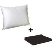 Litaf Toddler Pillow with Pillowcase, Black