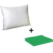 Litaf Toddler Pillow with Pillowcase, Green