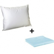 Litaf Toddler Pillow with Pillowcase, Light Blue