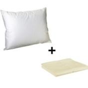 Litaf Toddler Pillow with Pillowcase, Ecru