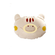 SWEETBB Cotton Baby Protective Sleeping Pillow.from Newborn Prevent From Flat Head,Natural