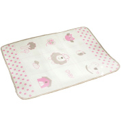 OYBY Lami Mini Waterproof Sheet Protector for babys, Portable Changing Pad 80cm x 70cm Pink
