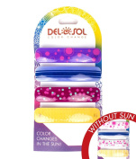 Girl's Colour-Changing Hair Clips by Del Sol - Variety Print Barrettes - Changes Colour in the Sun