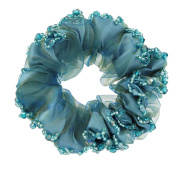 Fashionable Elegant Elastics Ponytail Holder Hair Rope/Ties Scrunchie Blue