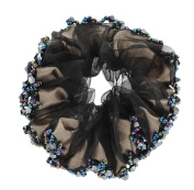 Fashionable Elegant Elastics Ponytail Holder Hair Rope/Ties Scrunchie Black