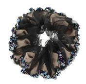 Fashionable Elegant Elastics Ponytail Holder Hair Rope/Ties Scrunchie Black