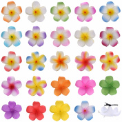 Youbami Hawaiian Plumeria Foam Flowers Hair Clips Bridal Hair Clips For Wedding Luau Party Beach Wear Poolside Wear Favour Event Decoration
