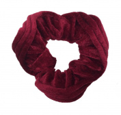 NTL #201 Red Velvet Hair Scrunchies (Regular) Tie Band Ponytail Holder, Hair Scrunchy