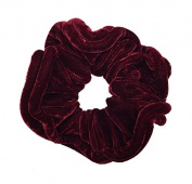 NTL #109 Red Velvet Elastic Hair Scrunchies (Regular) Tie Band Ponytail Holder, Hair Scrunchy