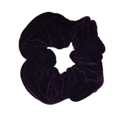 NTL #107 Purple Velvet Elastic Hair Scrunchies (Regular) Tie Band Ponytail Holder, Hair Scrunchy