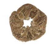 NTL #023 Light Brown Velvet Elastic Hair Scrunchies (Large) Tie Band Ponytail Holder, Hair Scrunchy