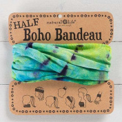 Natural Life Half Boho Bandeau Aqua & Lime Tie-Dye