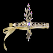 BABEYOND Bling Gold-Tone The Great Gatsby Inspired Leaf Flapper Headband Hair Tiara