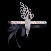 BABEYOND Stuning Silver-Tone Great Gatsby Inspired Leaf Flapper Headband Crown and Tiara