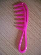 The Home Fusion Company Pink Detangle Hair Comb Rake Brush Sharks Teeth 19cm