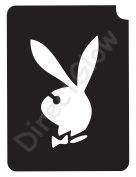 Bunny 1001 Body Art Glitter Makeup Tattoo Stencil- 5 Pack