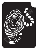 Tiger 1003 Body Art Glitter Makeup Tattoo Stencil- 5 Pack