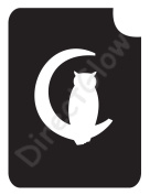 Owl In Cescent Moon 1005 Body Art Glitter Makeup Tattoo Stencil- 5 Pack