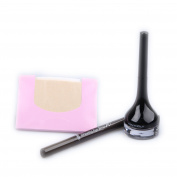 BUNDLE-Backstage Gel Eyeliner #1 Black + Drawing Eye Brow, No.1 Dark Brown + KBeautyBundle Premium Natural Hemp Paper Blotters