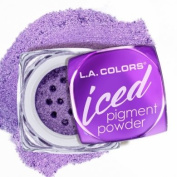 L.A.colour ICED PIGMENT POWDER LOOSE METALLIC POWDER LONG LASTING, BUILDABLE EYE colour BOLD, FROSTED METALLIC FINISH #CEP535 GLAM