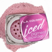 L.A.colour ICED PIGMENT POWDER LOOSE METALLIC POWDER LONG LASTING, BUILDABLE EYE colour BOLD, FROSTED METALLIC FINISH #CEP534 GLITZY