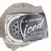 L.A.colour ICED PIGMENT POWDER LOOSE METALLIC POWDER LONG LASTING, BUILDABLE EYE colour BOLD, FROSTED METALLIC FINISH #CEP541 FOILED