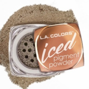L.A.colour ICED PIGMENT POWDER LOOSE METALLIC POWDER LONG LASTING, BUILDABLE EYE colour BOLD, FROSTED METALLIC FINISH #CEP533 TOASTED
